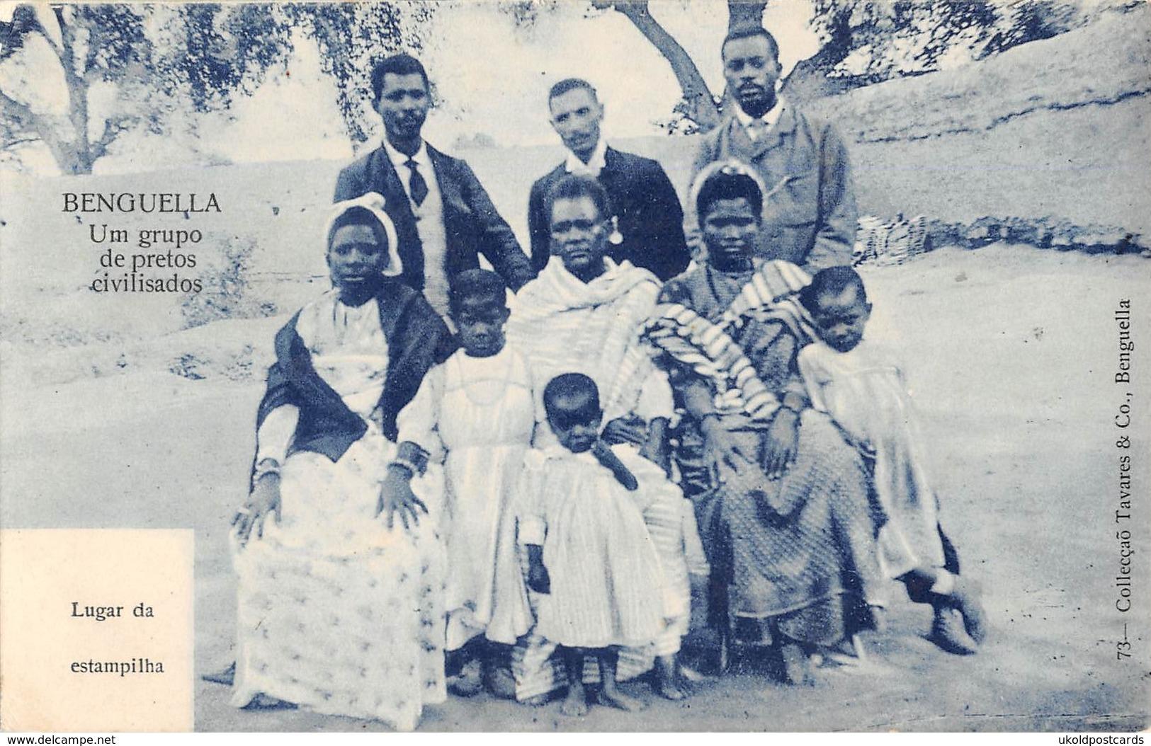 CPA - Afrique, ANGOLA, Benguella, Um Grupo De Pretos Civilisados. - Angola