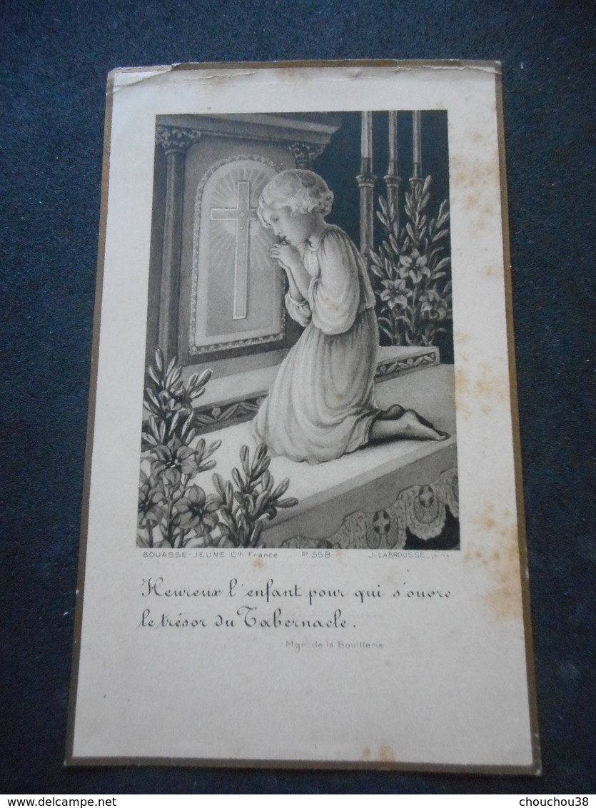 IMAGE PIEUSE Ancienne - Communion 1932 à SABLE -Colette FORGET - Religion & Esotérisme
