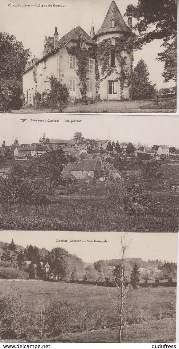 LOT 3 CPA   CHAMBOULIVE LACELLE ET MASSERET - Autres Communes