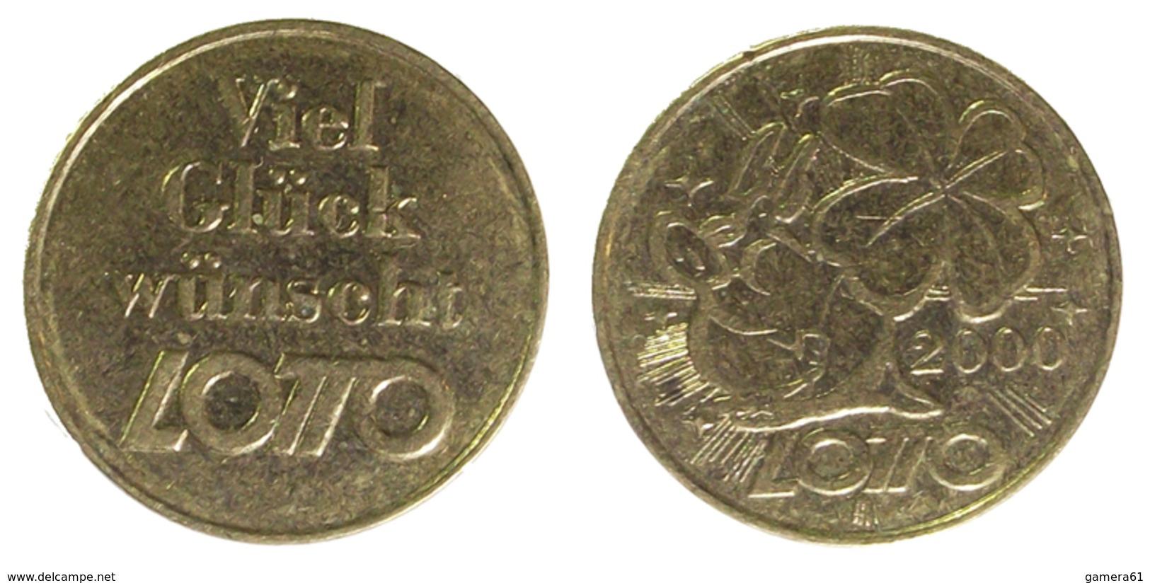01211 GETTONE TOKEN JETON LUCKY TOKEN VIEL GLÜCK WÜNSCHT LOTTO 2000 - Allemagne