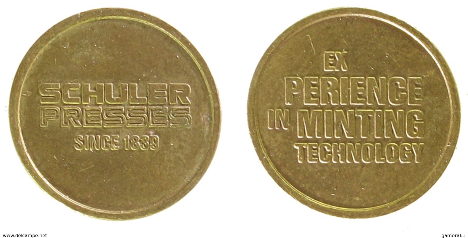 01110 GETTONE TOKEN JETON ADVERTISING SCHULKLKER PRESS MINTING TECHNOLOGY - Allemagne
