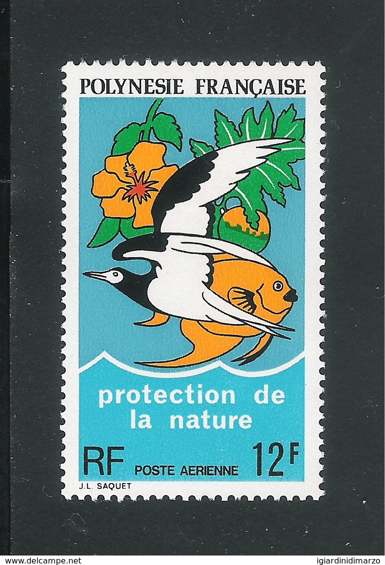 POLINESIA FRANCESE-1974: Valore Nuovo S.t.l. Da 12 F. Di P.A. - PROTEZIONE DELLA NATURA - In Buone Condizioni. - Nuovi