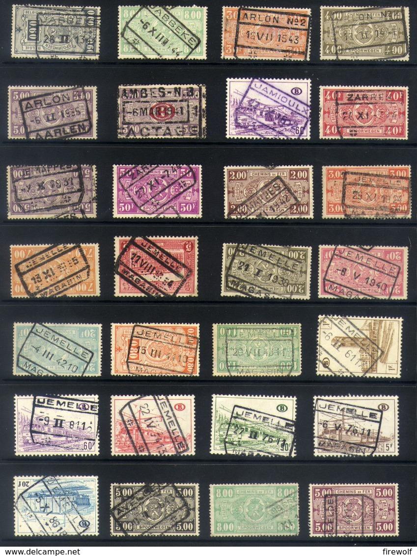 Y54 - Belgium - Railway Parcel Stamps - Used Lot - Bahnwesen