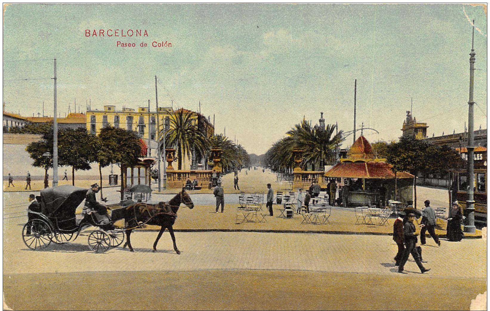Barcelona - Anim. Attelage - Paseo De Colon - Barcelona