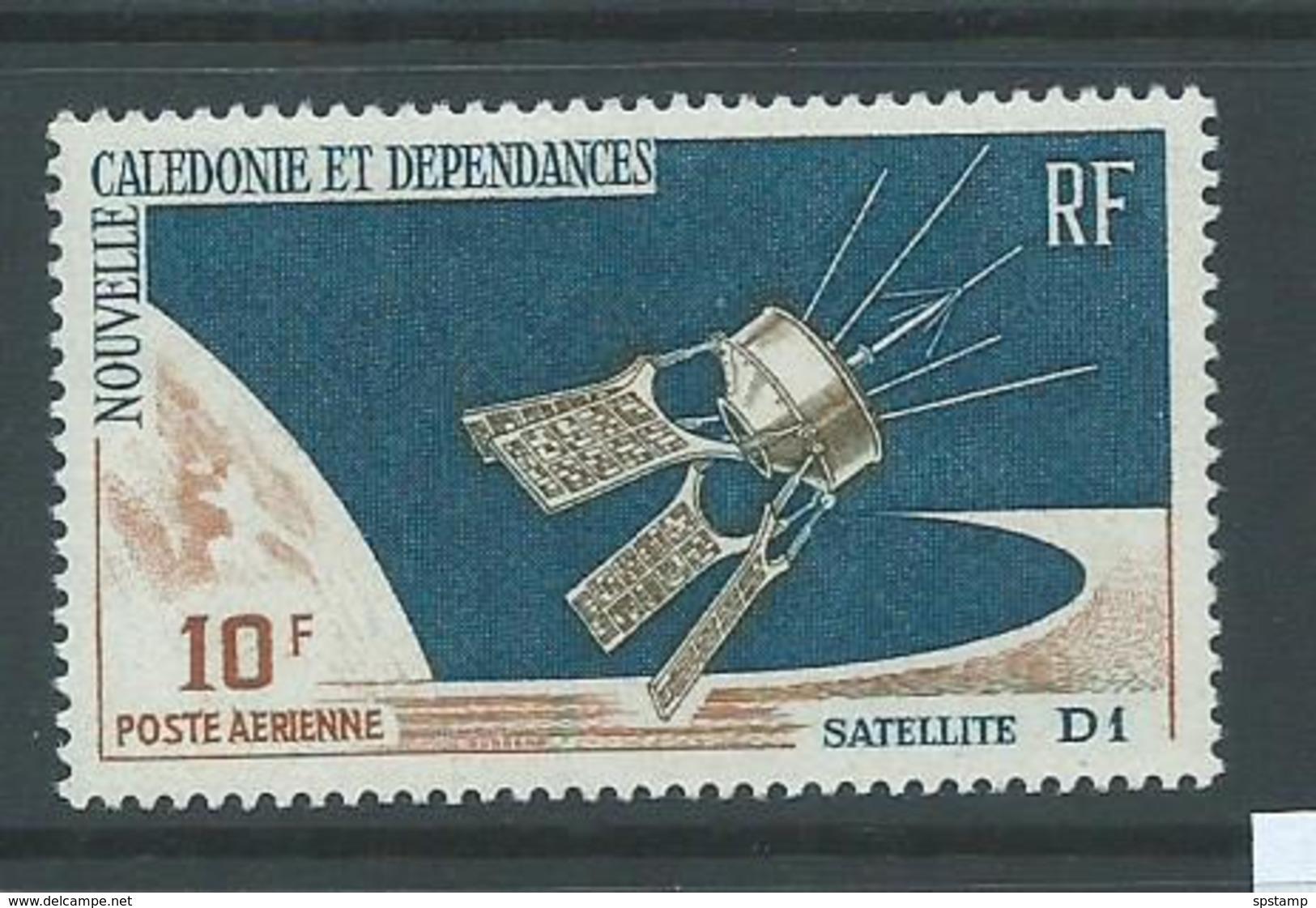 New Caledonia 1966 Satellite 10 F Airmail Single MNH - Unused Stamps