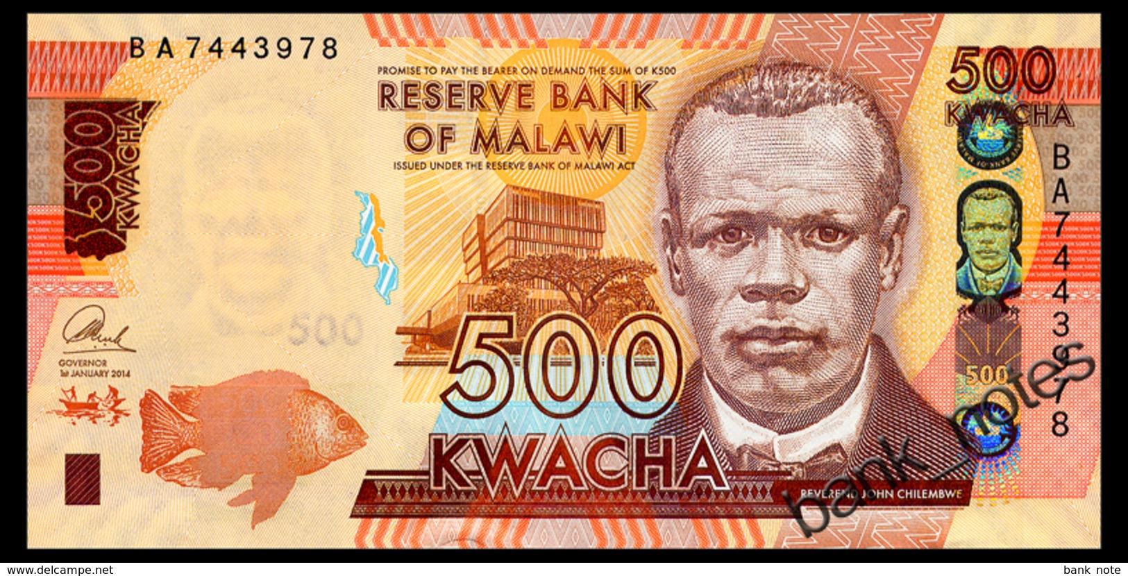 MALAWI 500 KWACHA 2014 Pick 66 Unc - Malawi