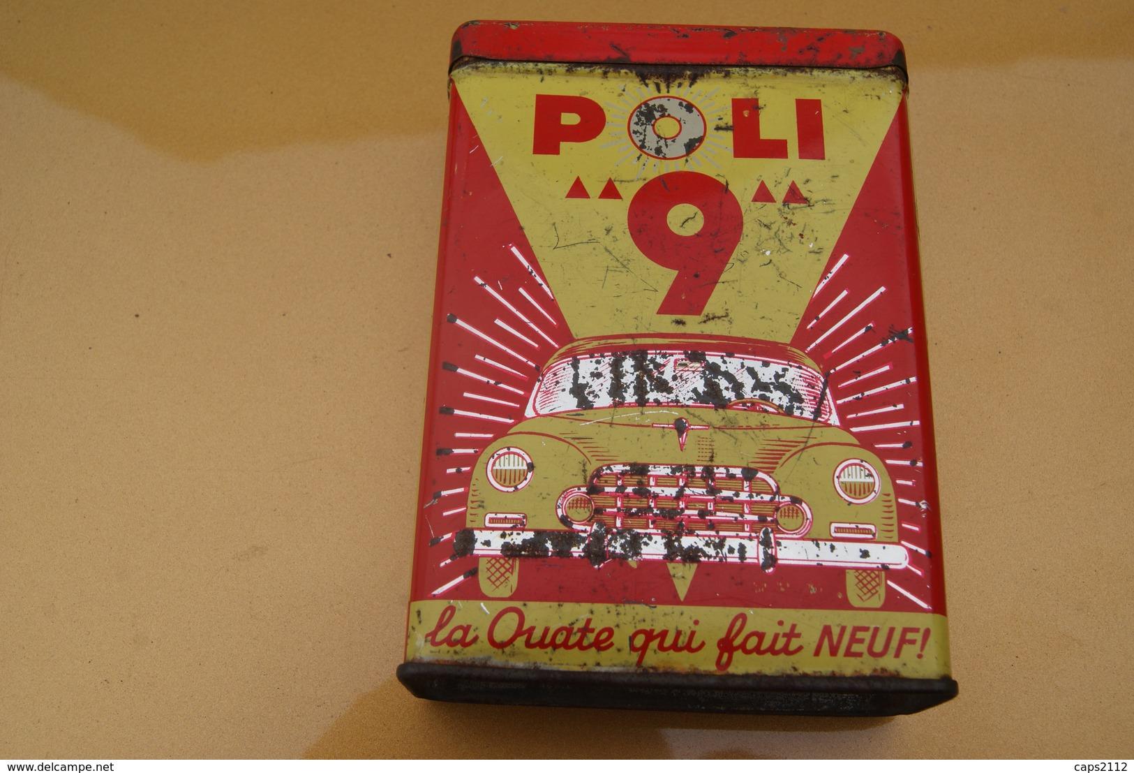 ANCIENNE BOITE POLI 9 // La Ouate Qui Fait Neuf * Garage, Automobilia - Dozen