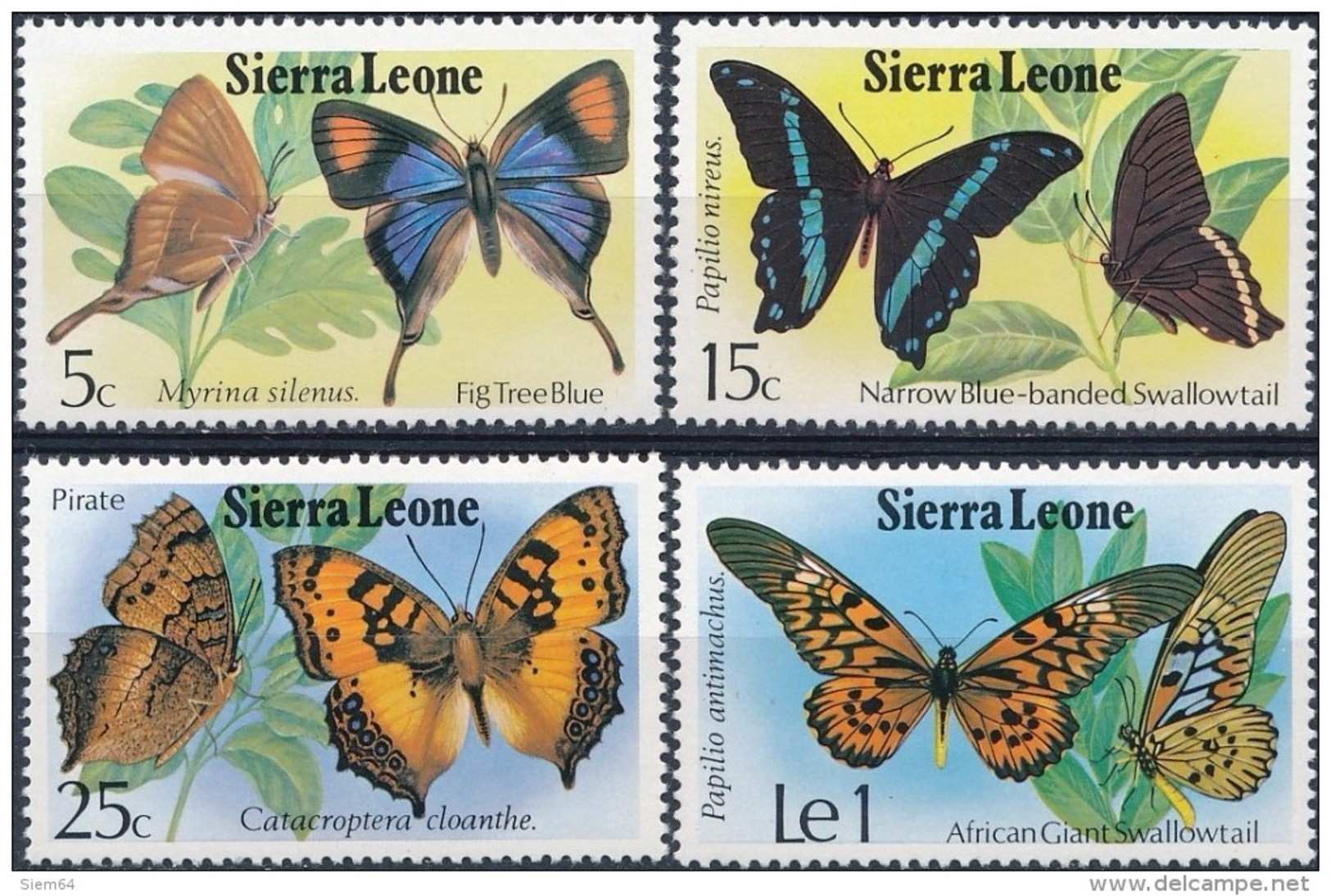 Sierra Leone  Butterflies - Vlinders