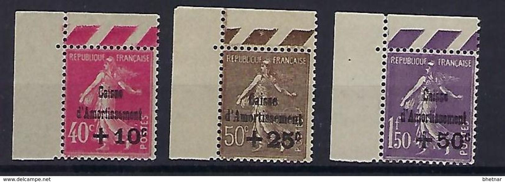 "FR YT 266 à 268 "" Caisse D'amortissement "" 1930 Neuf** BDF - Sinking Fund"