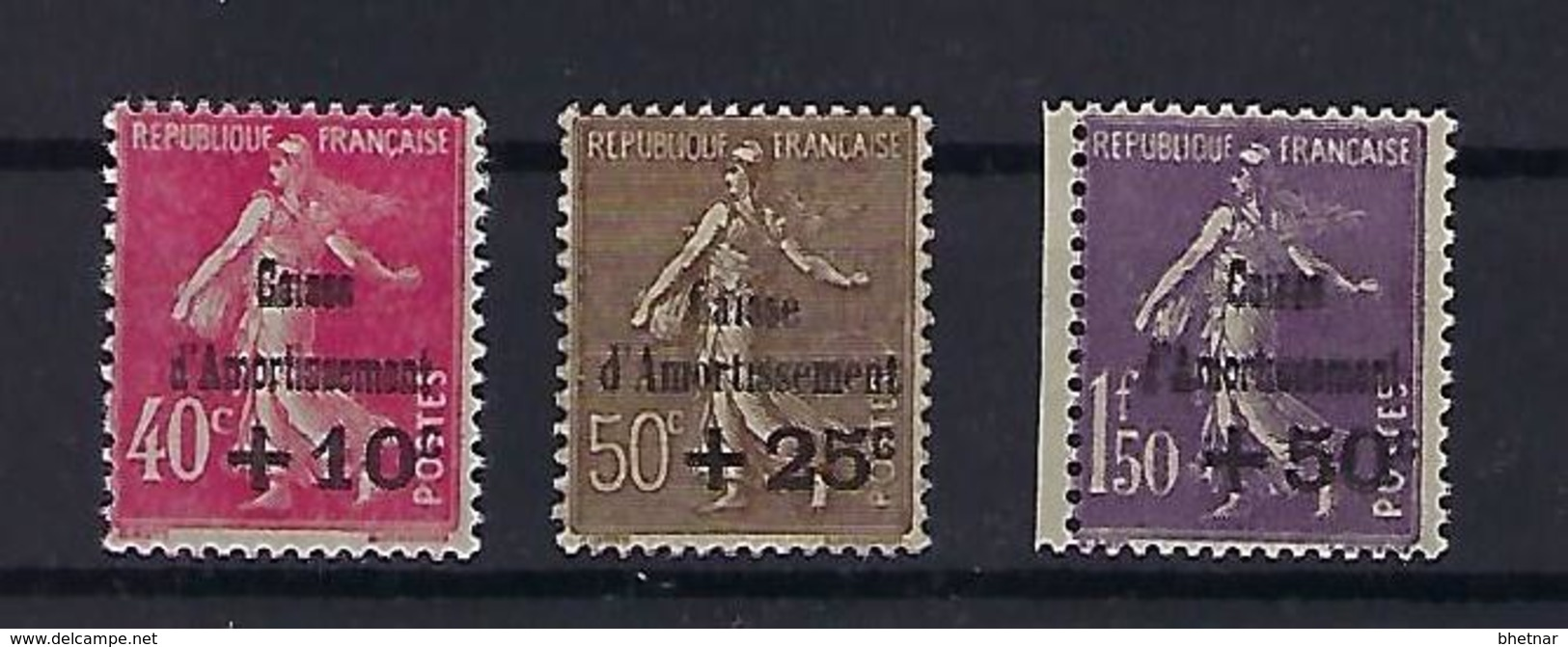 "FR YT 266 à 268 "" Caisse D'amortissement "" 1930 Neuf** - Sinking Fund"