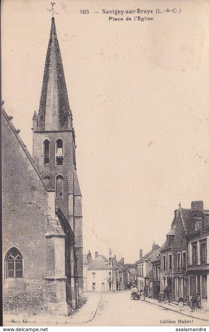 LOIR-ET-CHER – SAVIGNY-sur-BRAYE – Place De L'Eglise - France