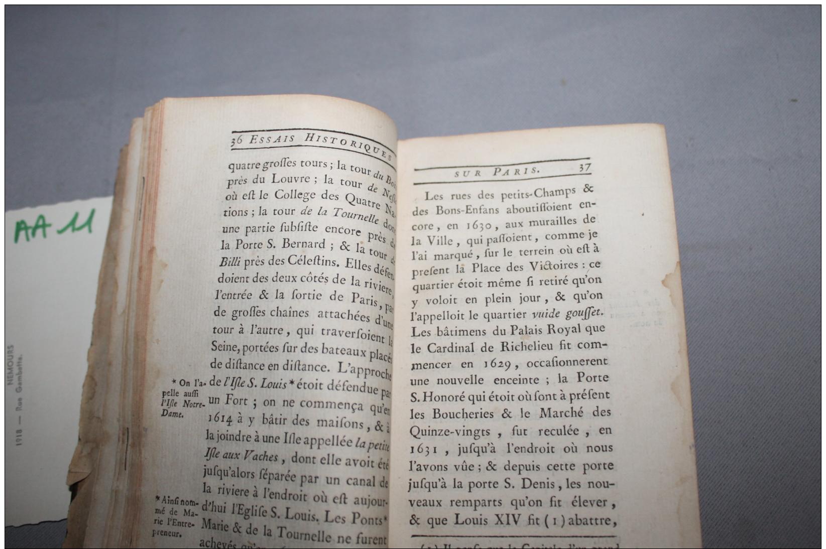 Essai Historique Sur Paris Tome I 1763 - Livres, BD, Revues