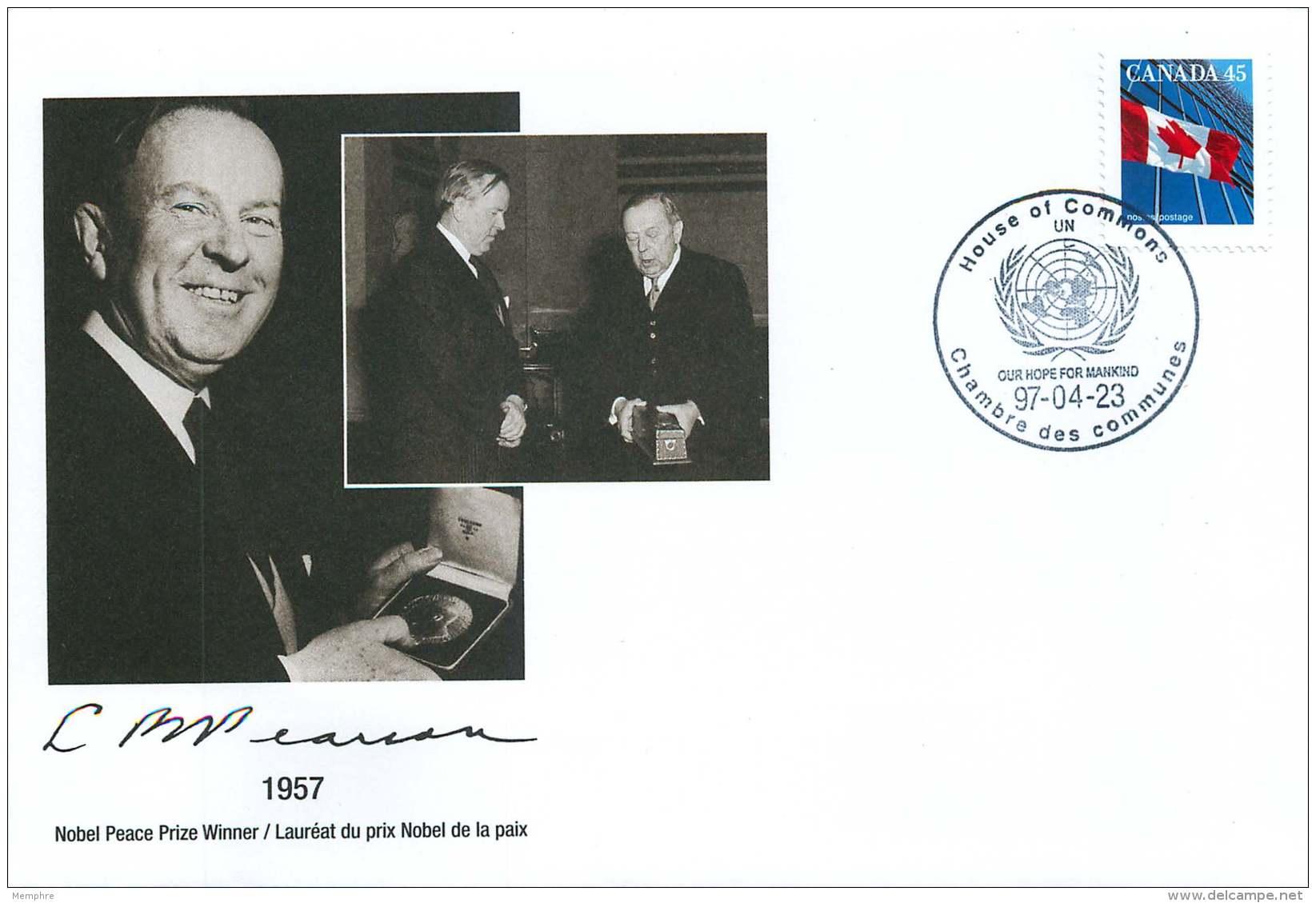 1997 Lester B Pearson  Dilplomat, Nobel Peace Prize Winner, Prime Minister Of Canada S24a-c - Enveloppes Commémoratives