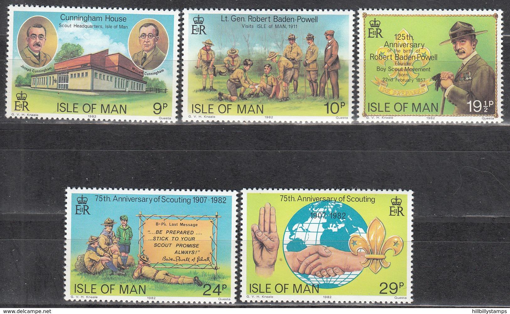 ISLE OF MAN     SCOTT NO. 207-11      MNH     YEAR  1982 - Isle Of Man
