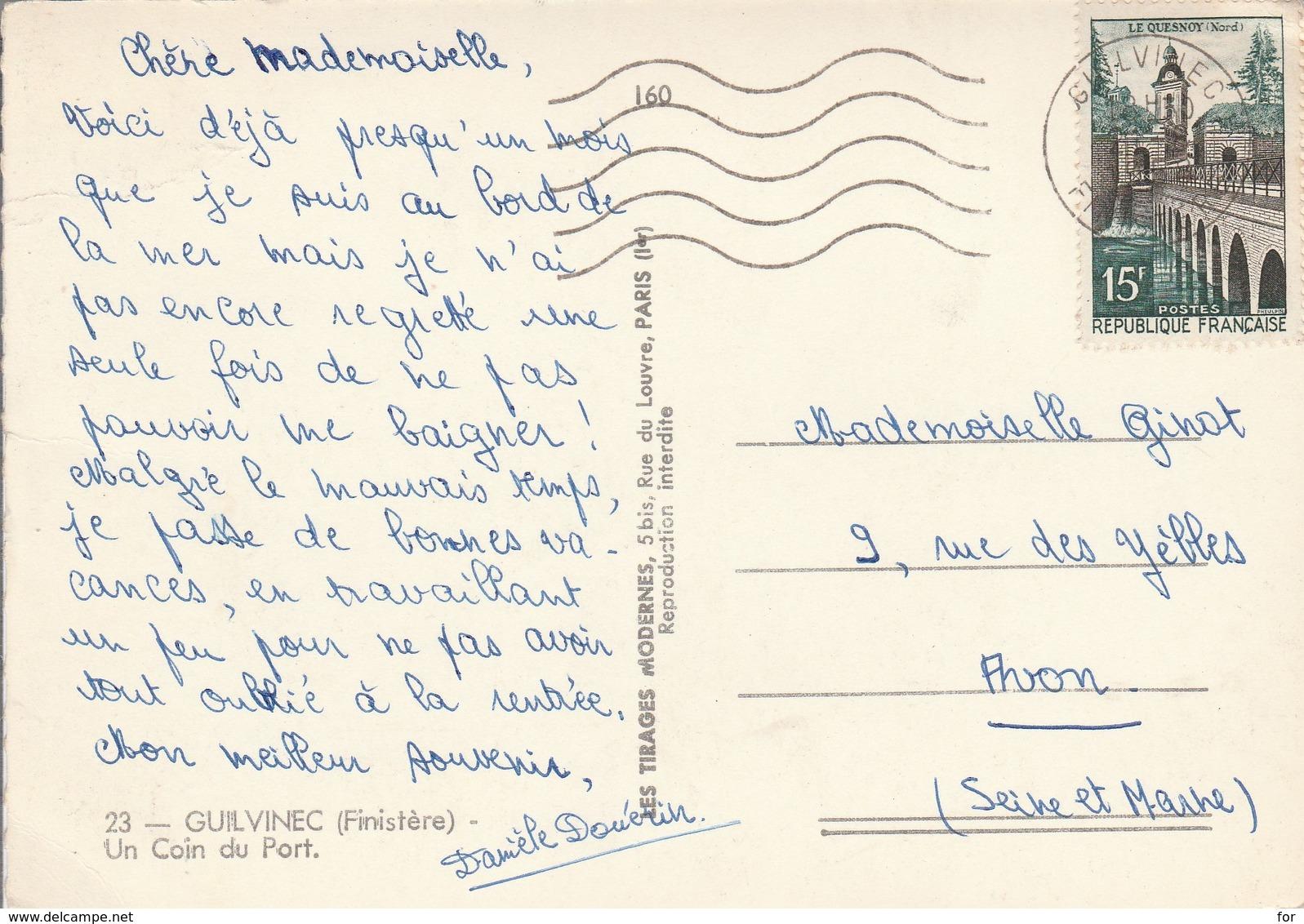Finistère : GUILVINEC : Un Coin Du Port ( Photo Vérit. ) Cpsm - Guilvinec
