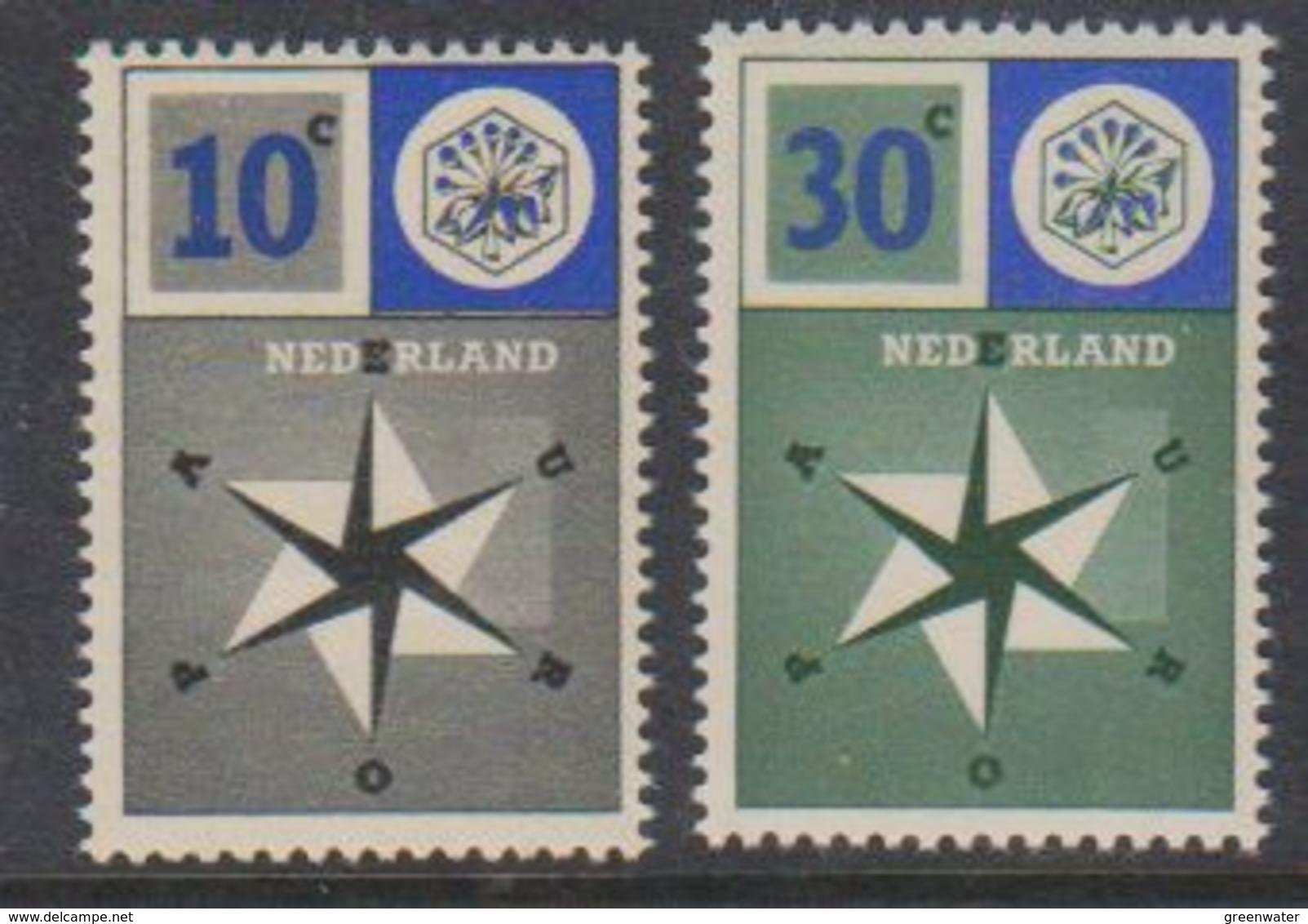 Europa Cept 1957 Netherlands 2v ** Mnh (38392) - Europa-CEPT