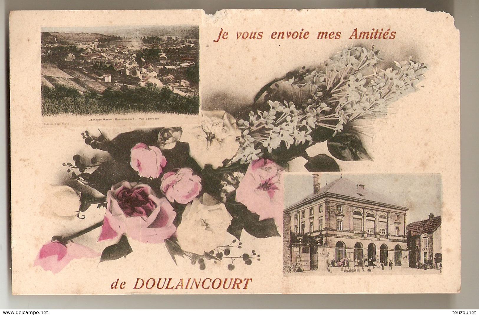 Cpa De Doulaincourt Je Vous Envoie Mes Amitiés - Scan Recto Verso - Doulaincourt