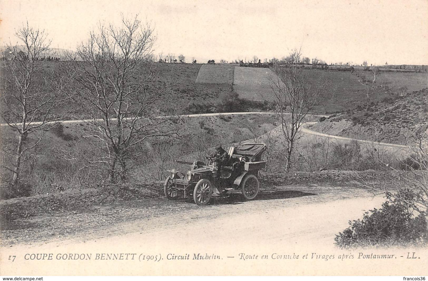 Coupe Gordon Bennett 1905 - Circuit Michelin - Route En Corniche Et Virages Après Pontaumur (63) - Francia