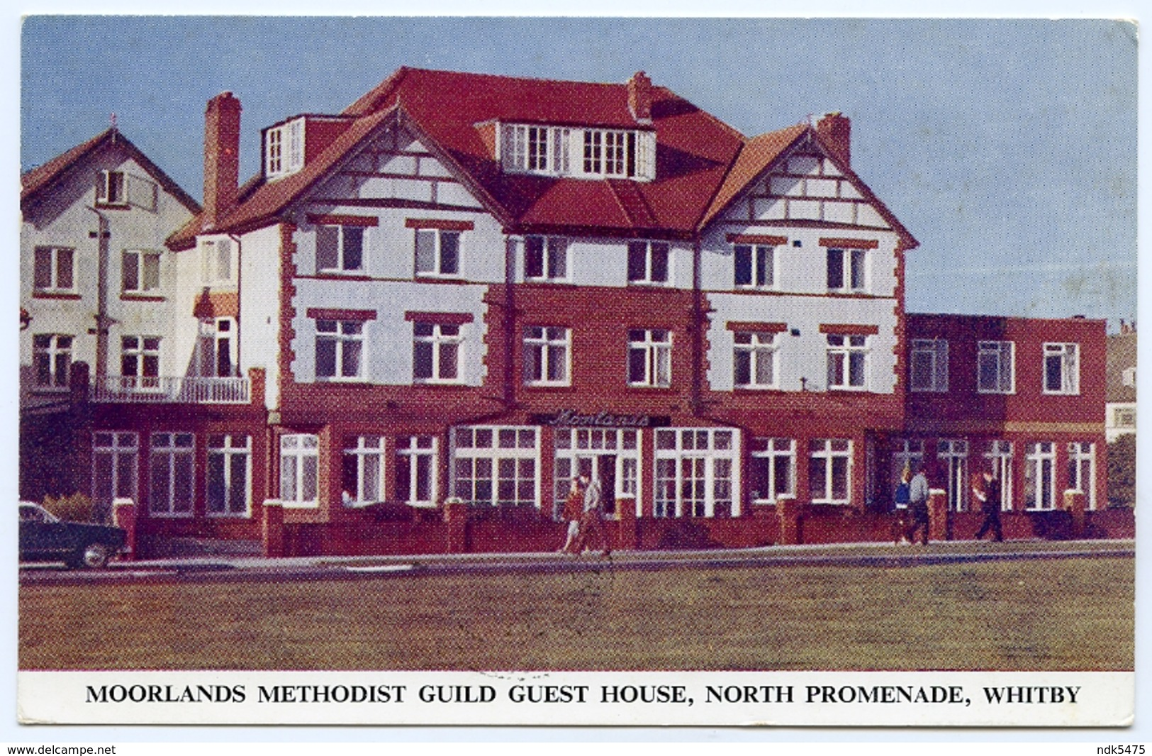 WHITBY : MOORLANDS METHODIST GUILD GUEST HOUSE, NORTH PROMENADE / POSTMARK - LURGAN, ARMAGH - Whitby