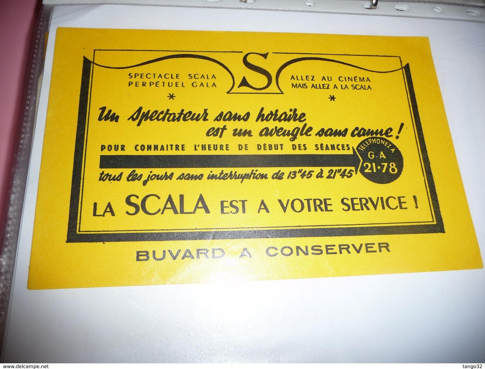 BUVARD Publicitaire  BLOTTING PAPER  LA SCALA Cinéma - Buvards, Protège-cahiers Illustrés