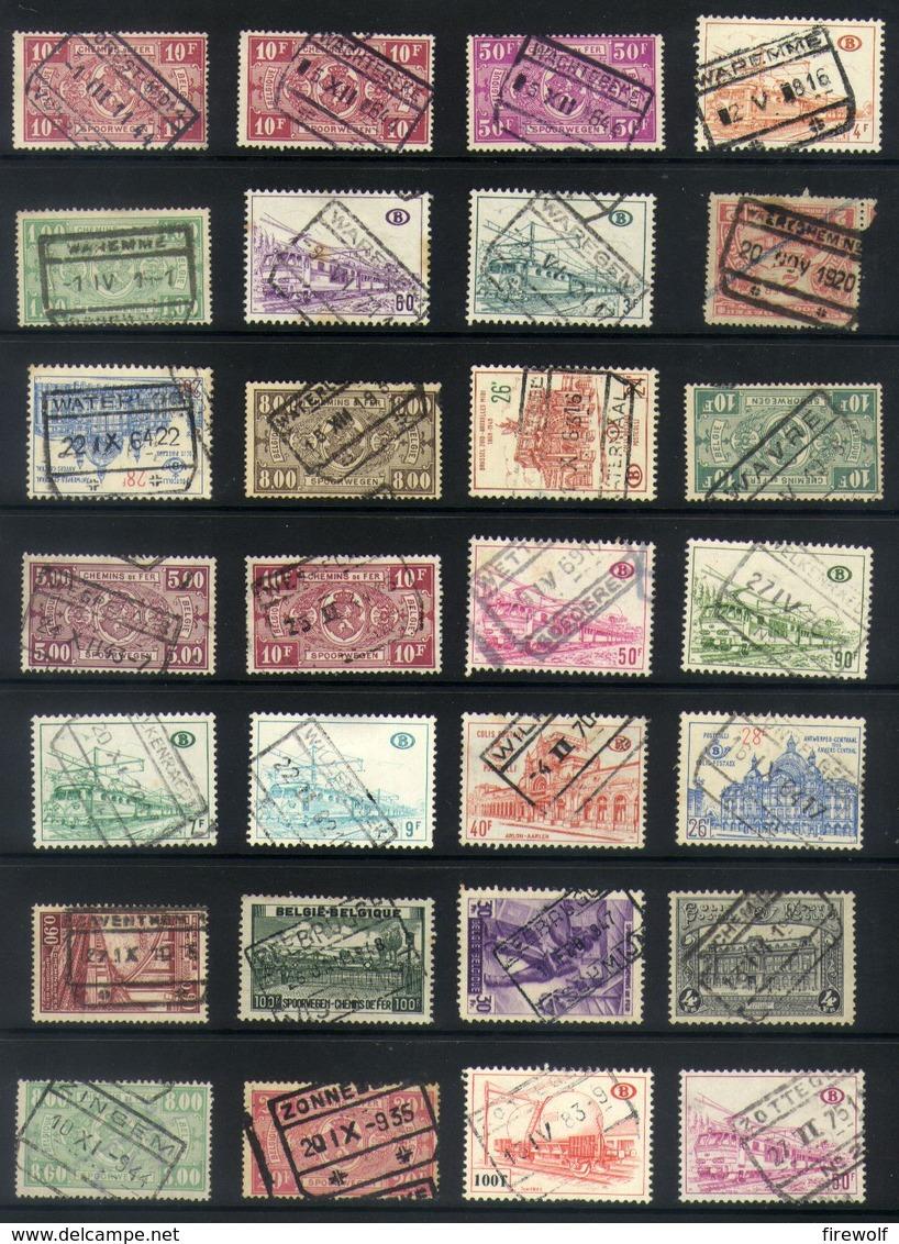 Y62 - Belgium - Railway Parcel Stamps - Used Lot - Bahnwesen