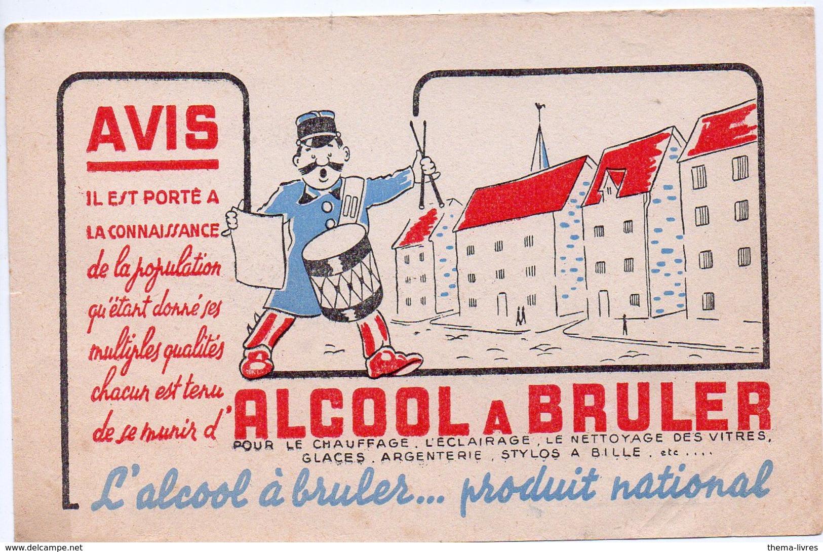Buvard  ALCOOL A BRULER (PPP8441) - A