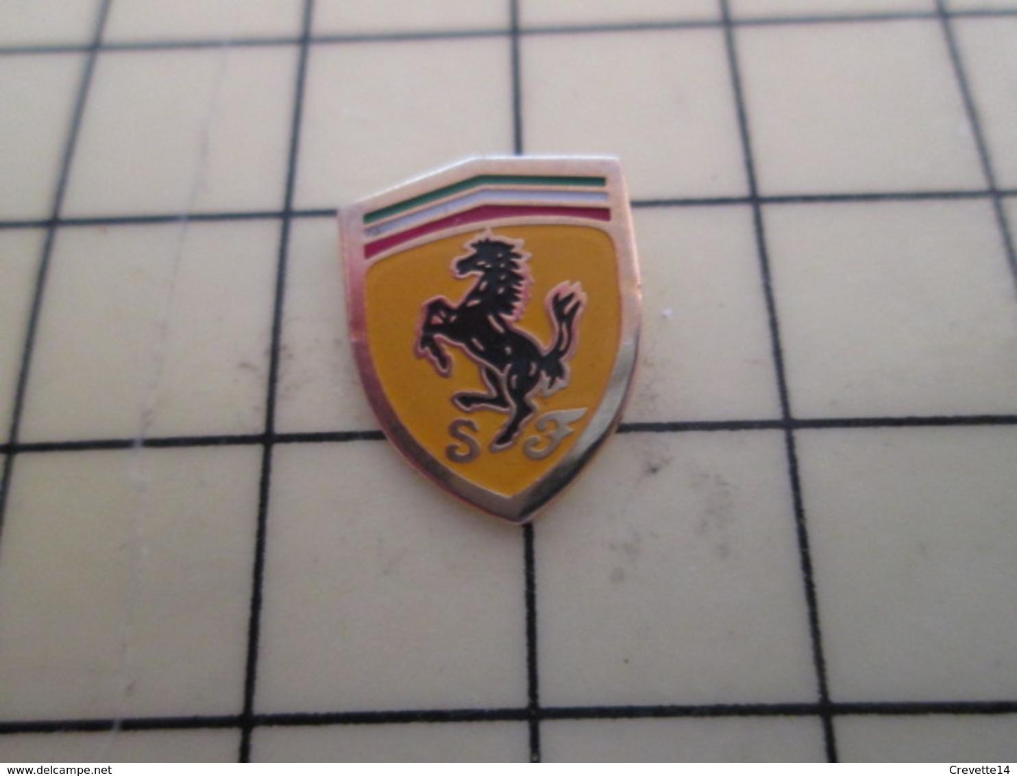 Pin511a Pin's Pins / Beau Et Rare / AUTOMOBILE : LOGO DE LA MARQUE FERRARI CHEVAL CABRE - Ferrari