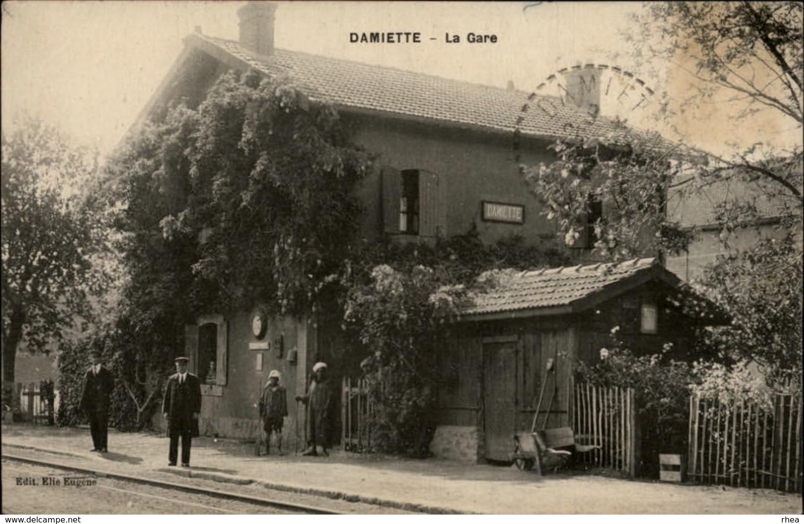 EGYPTE - DAMIETTE - Gare - Cheminots - Damiette