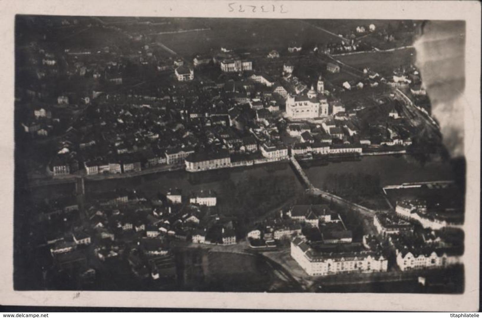 Poste Aérienne CP En Recommandée Flugmarke Flugtag Solothurn Grenchen August 1924 Mit Flugpost YT Ae 10 Aviation - Poste Aérienne