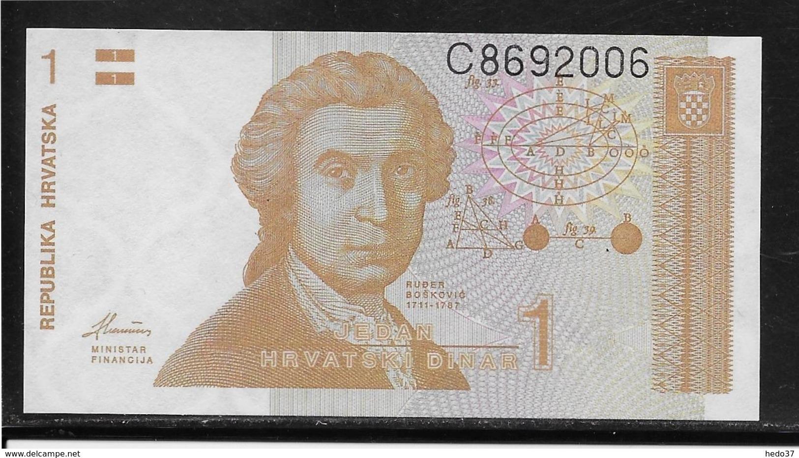 Croatie - 1 Dinar - Pick N°16 - NEUF - Croatie