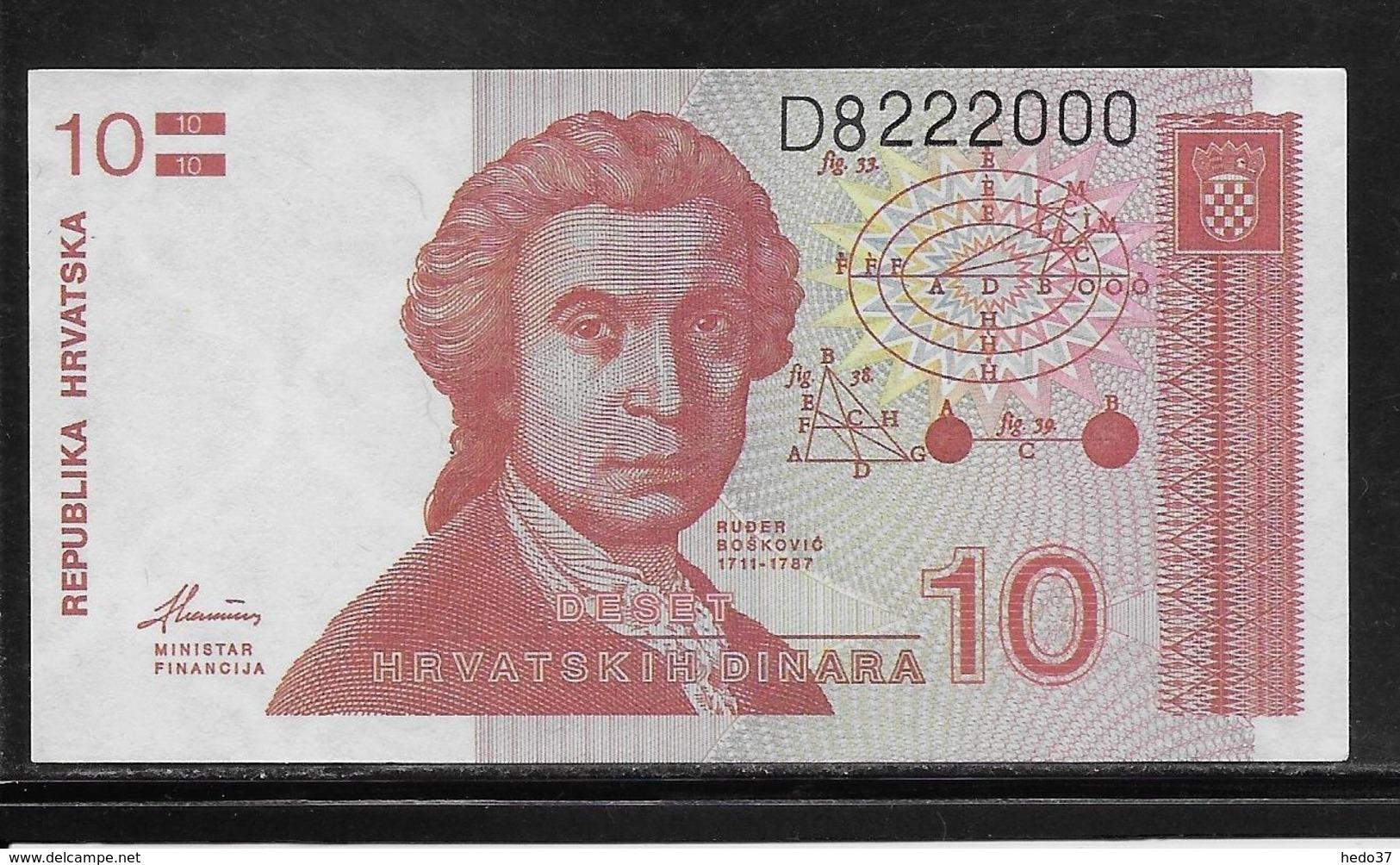 Croatie - 10 Dinara - Pick N°18 - NEUF - Croatie