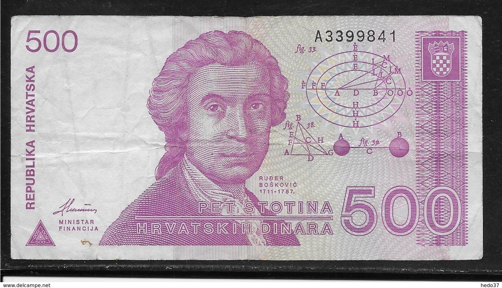 Croatie - 500 Dinara - Pick N°21 - TB - Croatie
