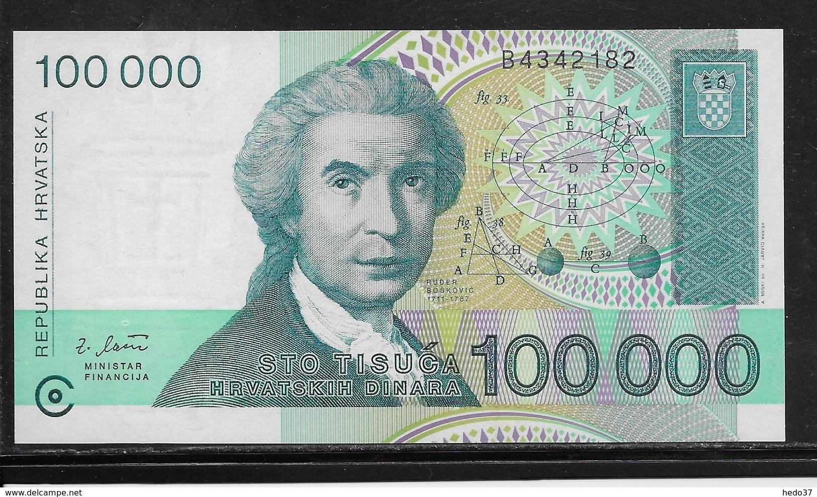 Croatie - 100000 Dinara - Pick N°27 - NEUF - Croatie