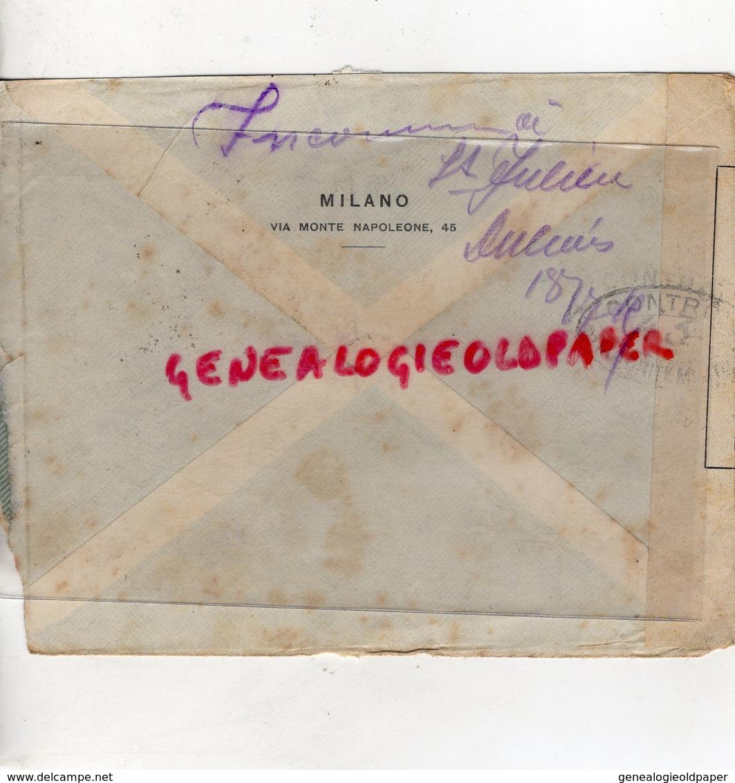 ITALIE-VENEZIA- MILANO-ENVELOPPE CARLO ROMANELLI - PIERRE POINTU SAINT JUNIEN-CONTROLE POSTAL MILITAIRE - Italie