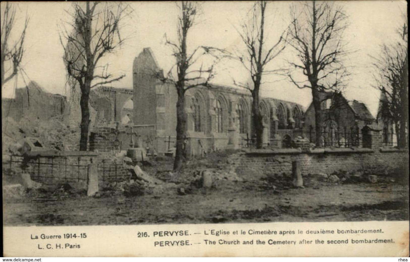 BELGIQUE - PERVYSE - Ruines - Guerre 14-18 - Autres