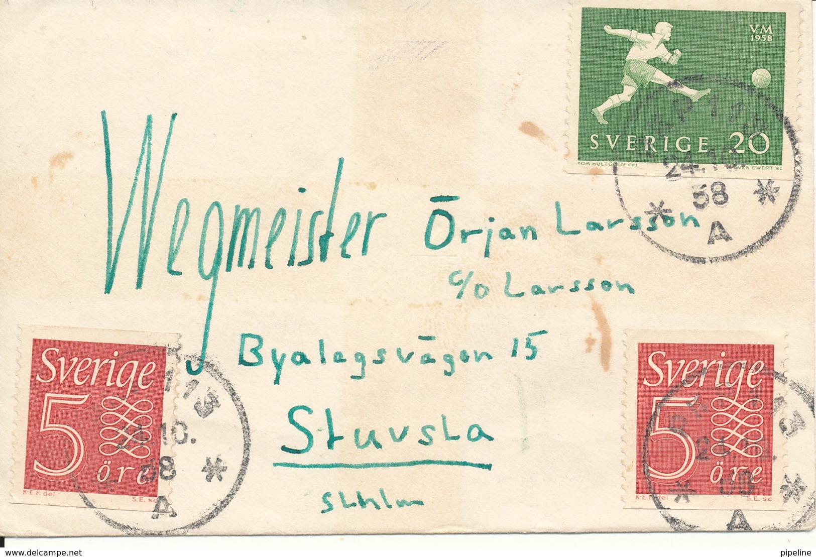 Sweden Small Cover PKP 113 24-10-1958 - Sweden