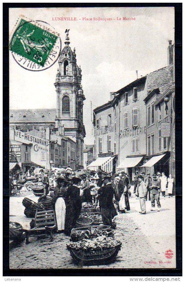 54-Lunéville, Place St-Jacques, Le Marché - Luneville