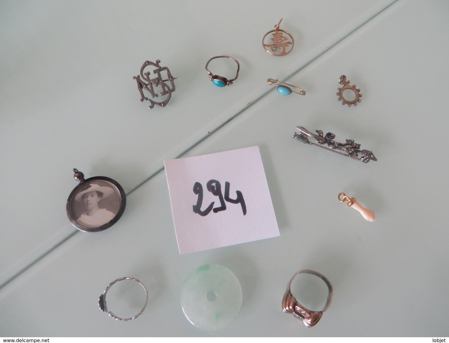 Lot De Bijoux Anciens ,le Truc Chinois Peut-etre Poinçon,, AUCUNE GARANTIE,,(lot 294) - Jewels & Clocks