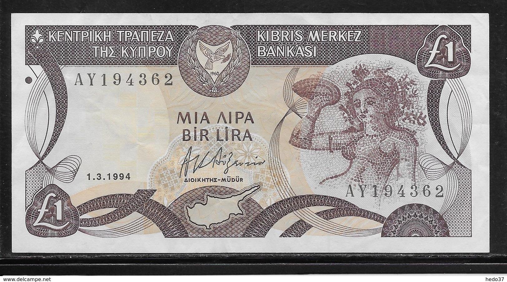 Chypre - 1 Pound - Pick N°53c - SUP - Chypre
