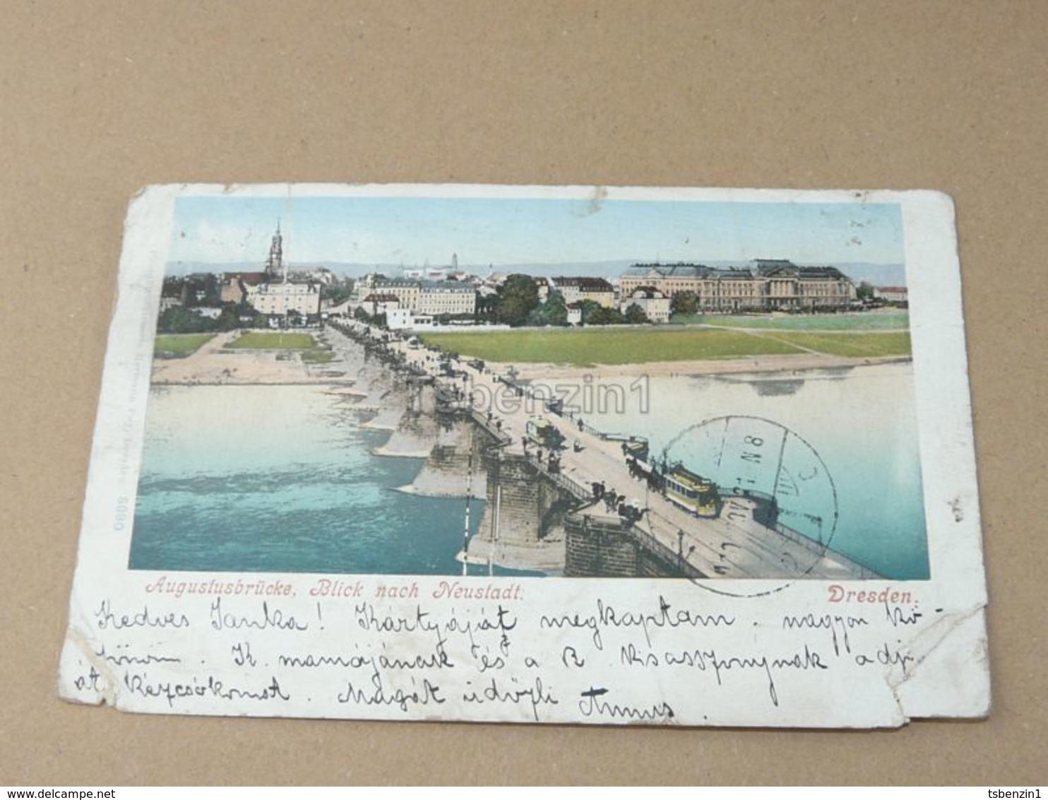 Dresden Augustusbrücke Blick Nach Neustadt Gemany - Dresden