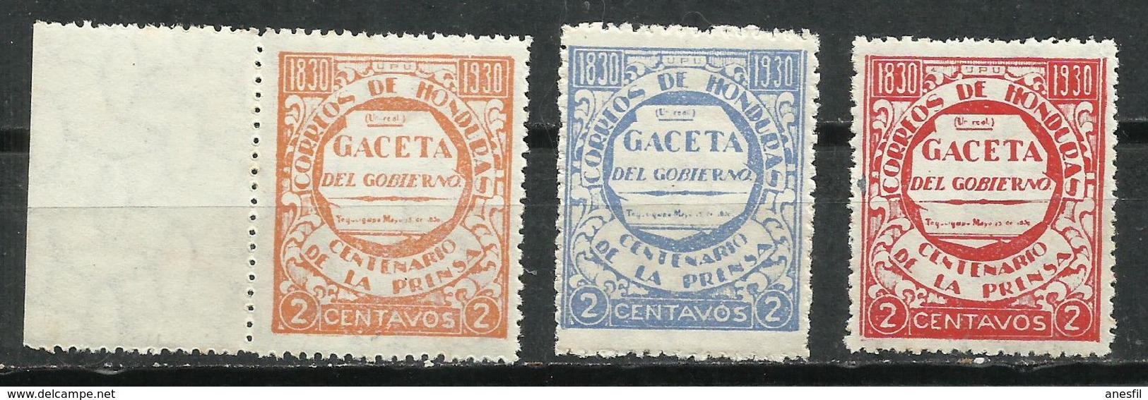 Honduras. 1930. La Gaceta Del Gobierno. - Honduras