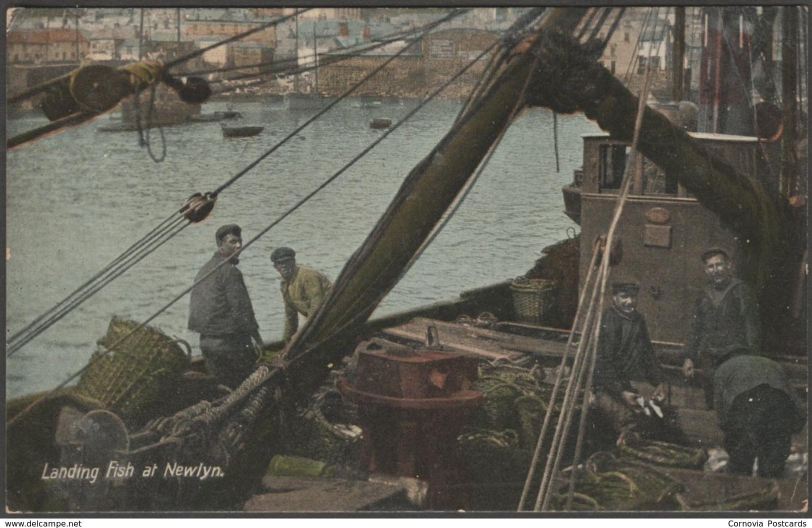 Landing Fish At Newlyn, Cornwall, 1912 - Argall's Postcard - England