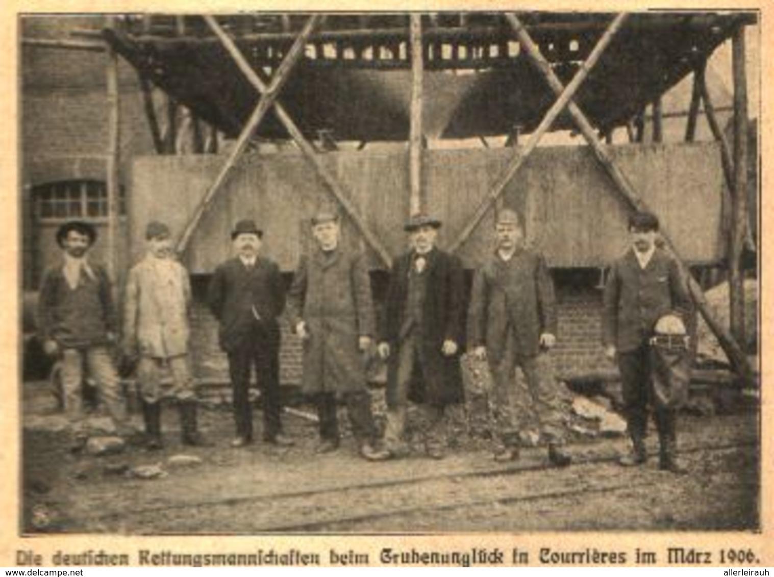 Deutsche Rettungsmannschaften Beim Grubenunglueck In Courrières Im März 1906/ Druck, Entnommen Aus Kalender / 1907 - Bücherpakete