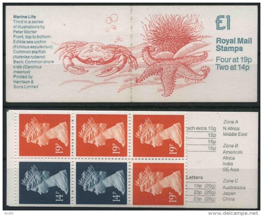 1989 Gran Bretagna, FH17 Marine Life Libretto, Nuovo (**) - Libretti