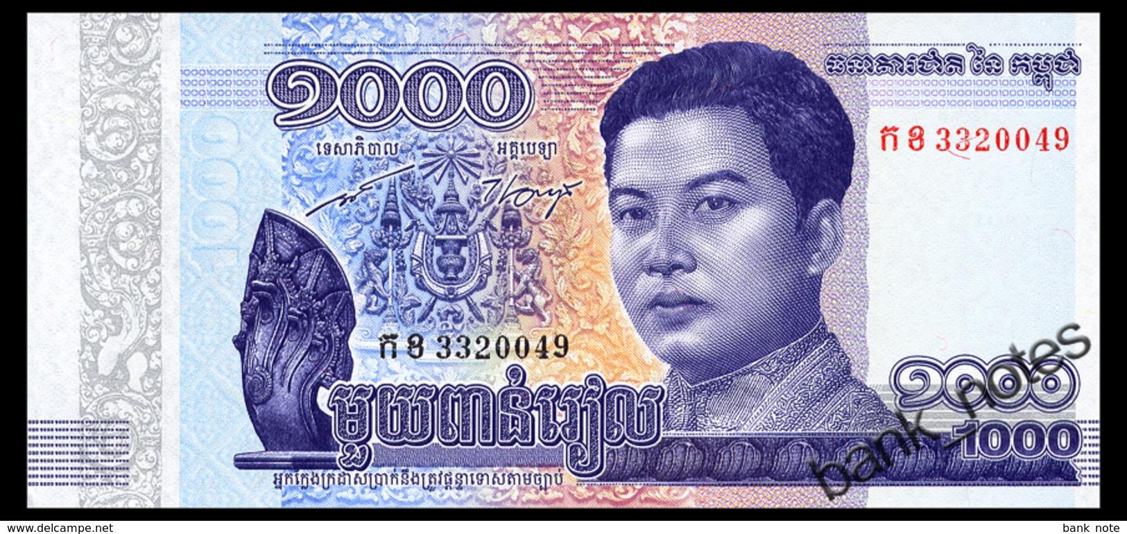 CAMBODIA 1000 RIELS 2016 Pick New Unc - Cambodia