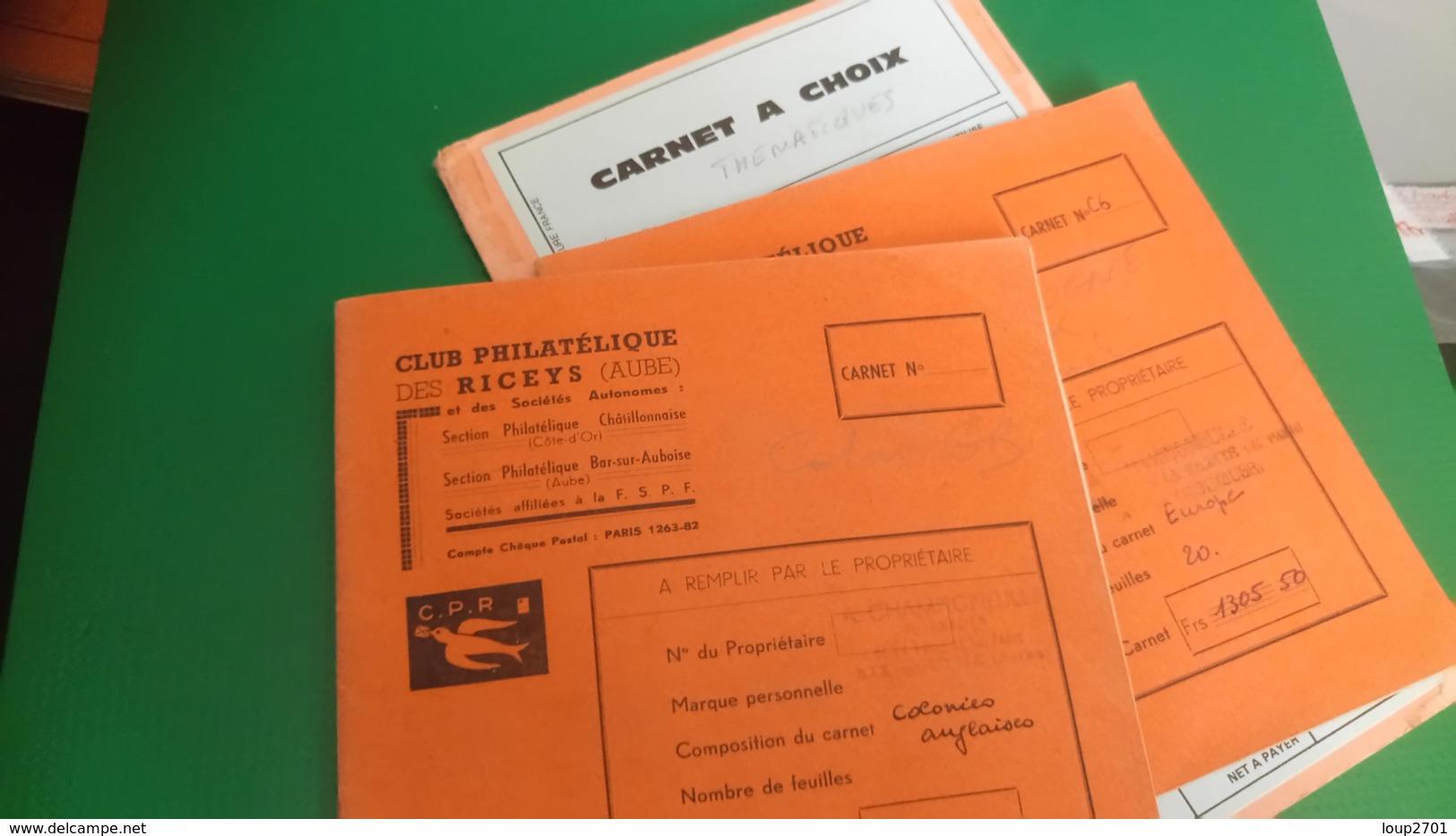 D432 LOT RESTE CARNET A CHOIX DIVERS A TRIER BELLE COTE DÉPART 3€ - Sammlungen (im Alben)