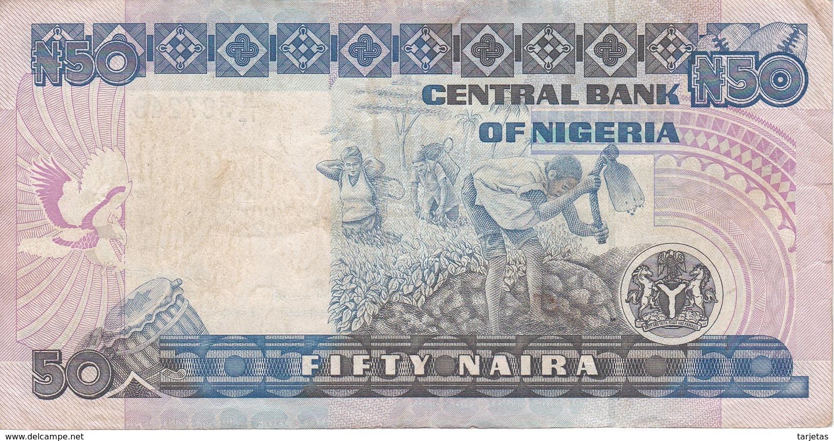BILLETE DE NIGERIA DE 50 NAIRA DEL AÑO 2000 (BANKNOTE) - Nigeria