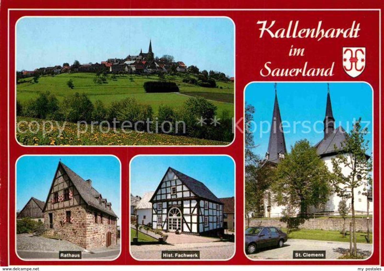 72918477 Kallenhardt Ortsansicht Mit Kirche Rathaus Historisches Fachwerk Ruethe - Unclassified