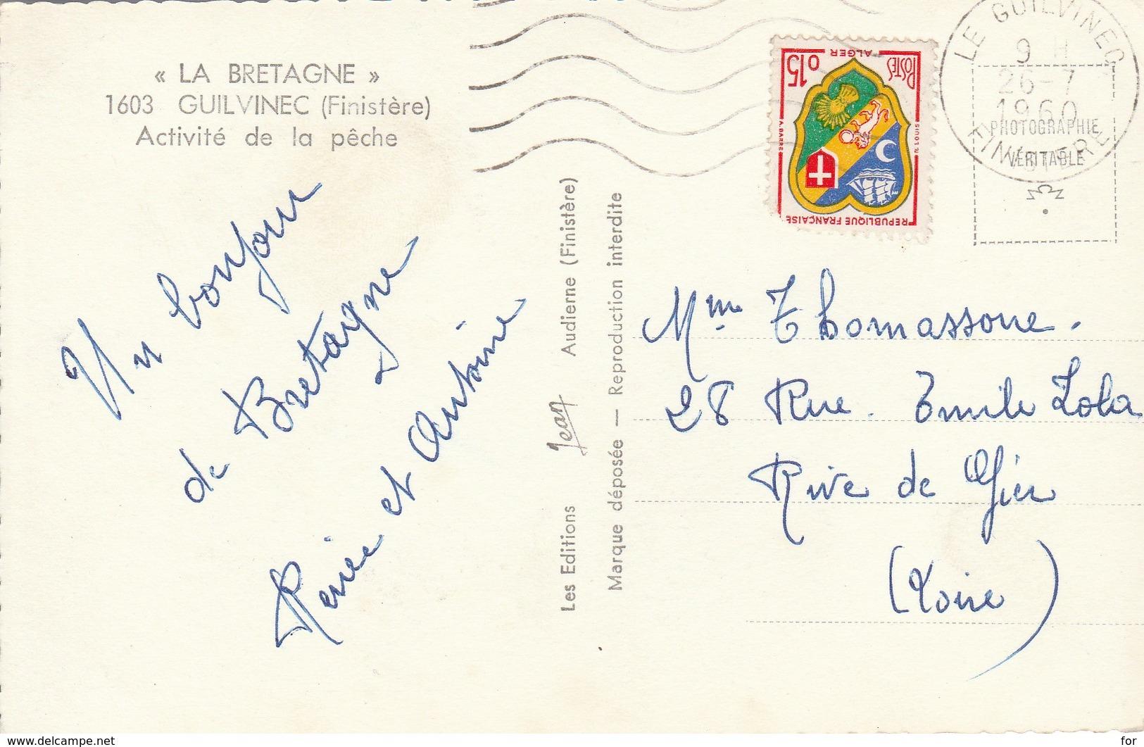 Finistère : GUILVINEC : Activité De La Péche : Cpsm Photo Vérit. Petit Format - Guilvinec