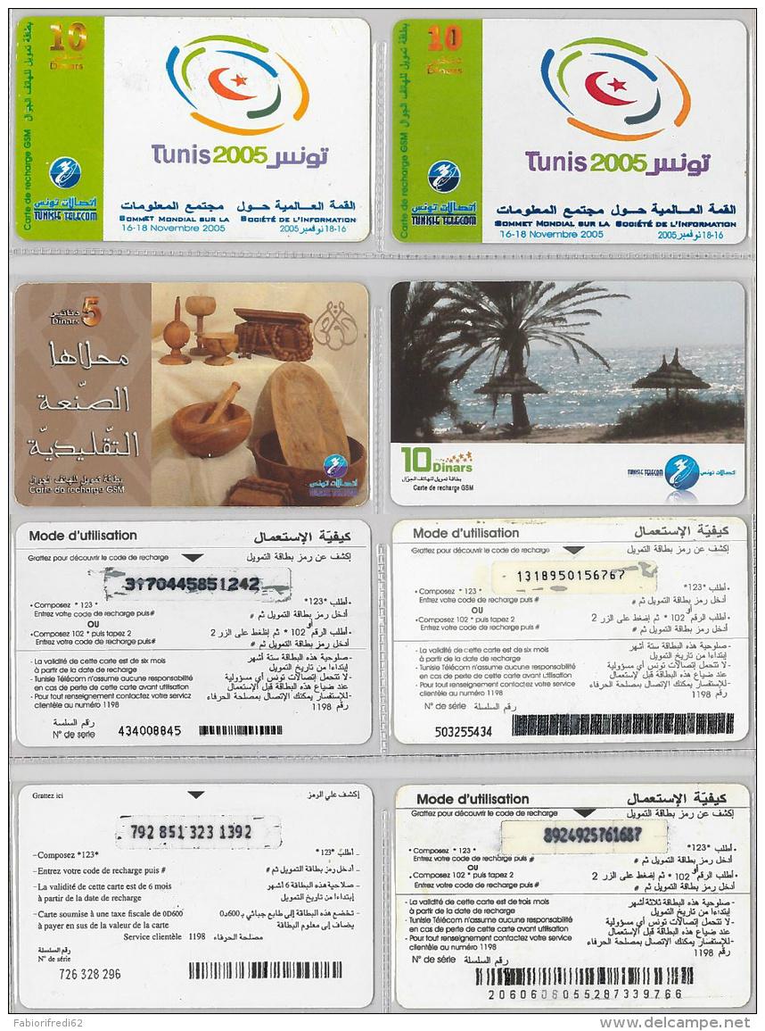 LOT PREPAID 4 PHONE CARD- TUNISIA (E22.20.1 - Tunisia